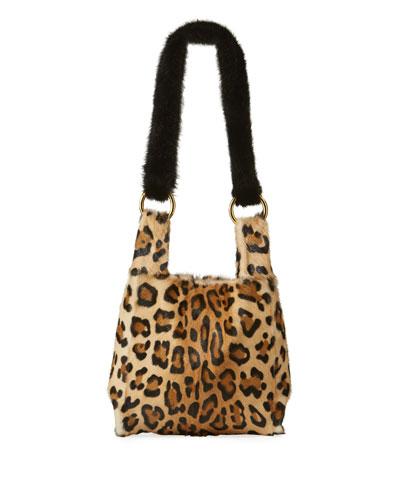 f178e1d4e6c5 Furrissima Baby Leopard-Print Small Handbag