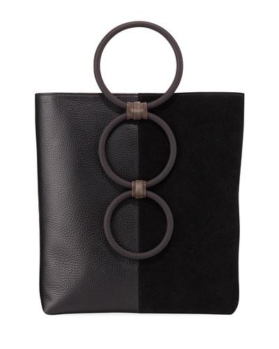 cc990f17e342 Petra Mini Leather/Suede Ring Tote Bag