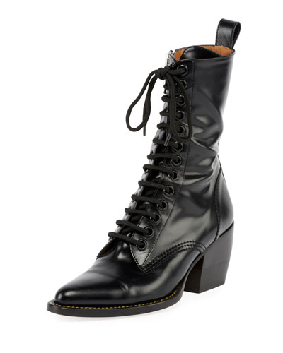 Rylee 90MM High Lace Up Buckle Boot