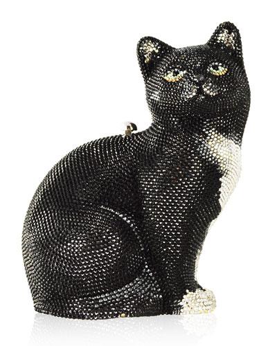 Jinx Cat Crystal Hard Clutch Bag