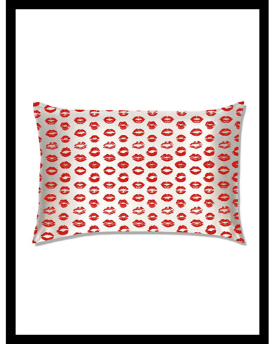 Red Kisses Queen Pillowcase