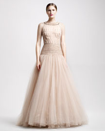 Valentino Tulle Illusion Ball Gown