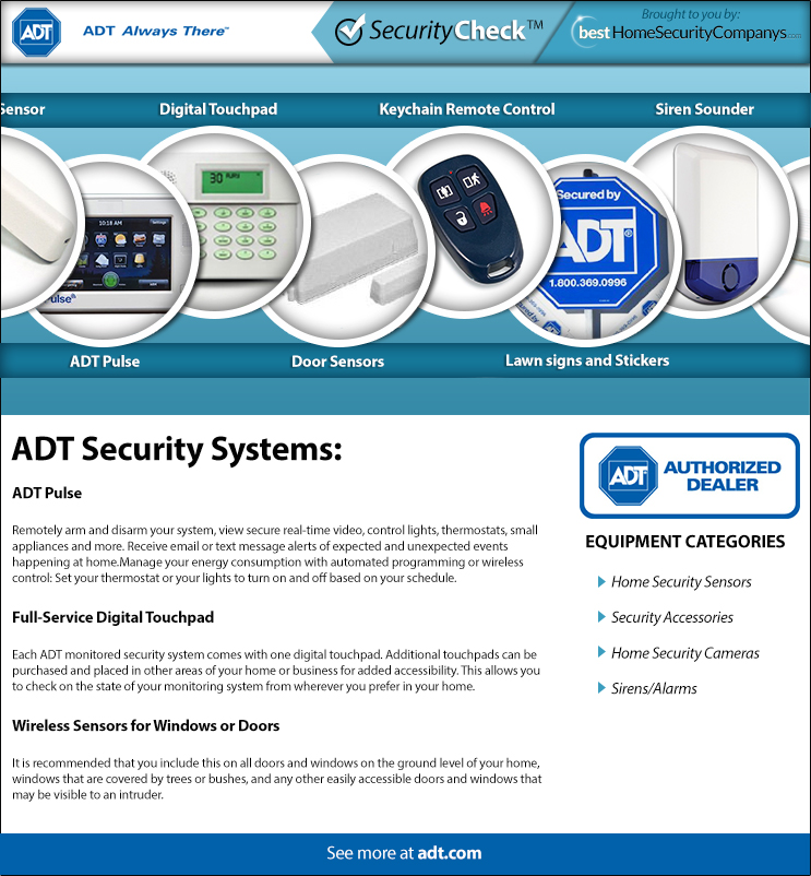 Monitored Security System Reviews