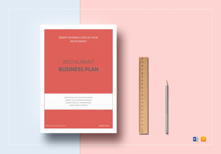 Restaurant Business Plan Template in Word  Google Docs  Apple Pages Restaurant Business Plan Template