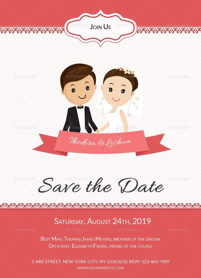 Unique Wedding Invitation Card Template