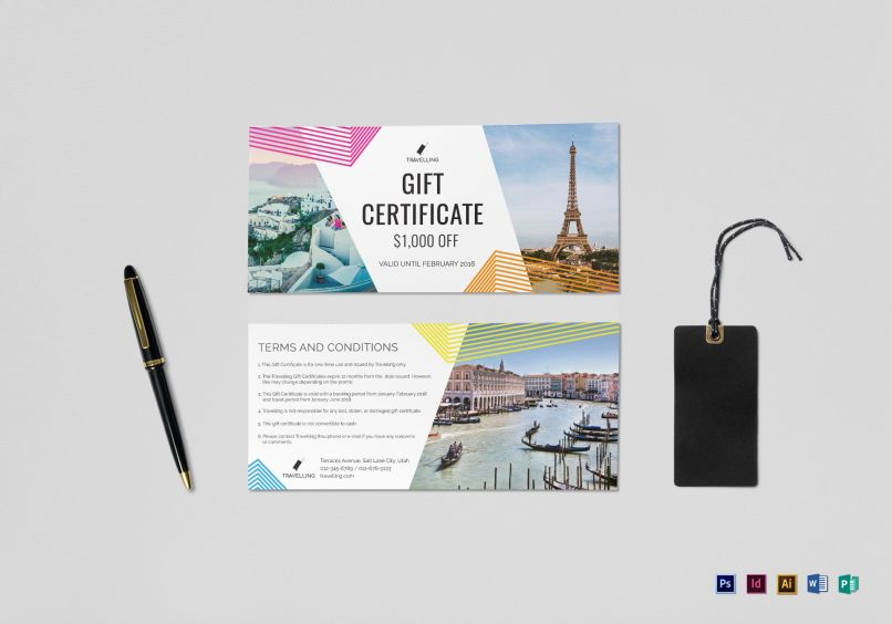 Travel Gift Voucher Template Word Anexa Creancy