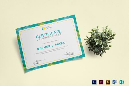 Blank Certificate Design Template in PSD  Word  Publisher     Blank Certificate Template