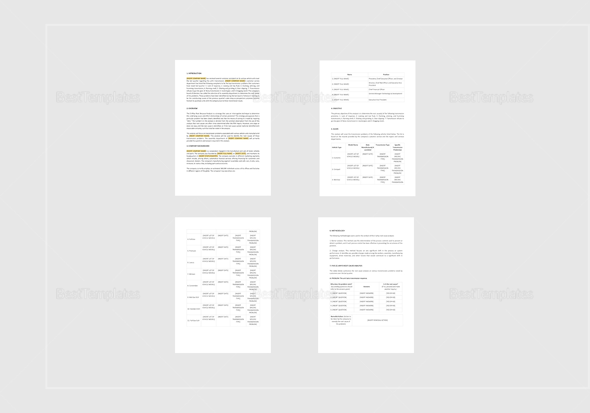 5 Whys Root Causeysis Template In Word Apple Pages