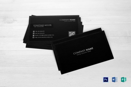 Black Business Card Design Template in Word  PSD  Publisher Black Business Card  Black Business Card Template