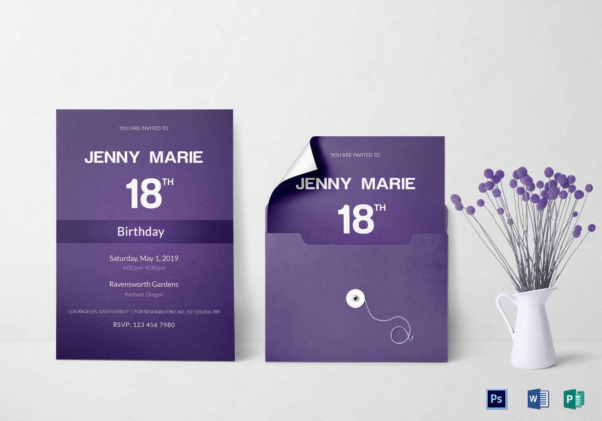 debut event invitation card design