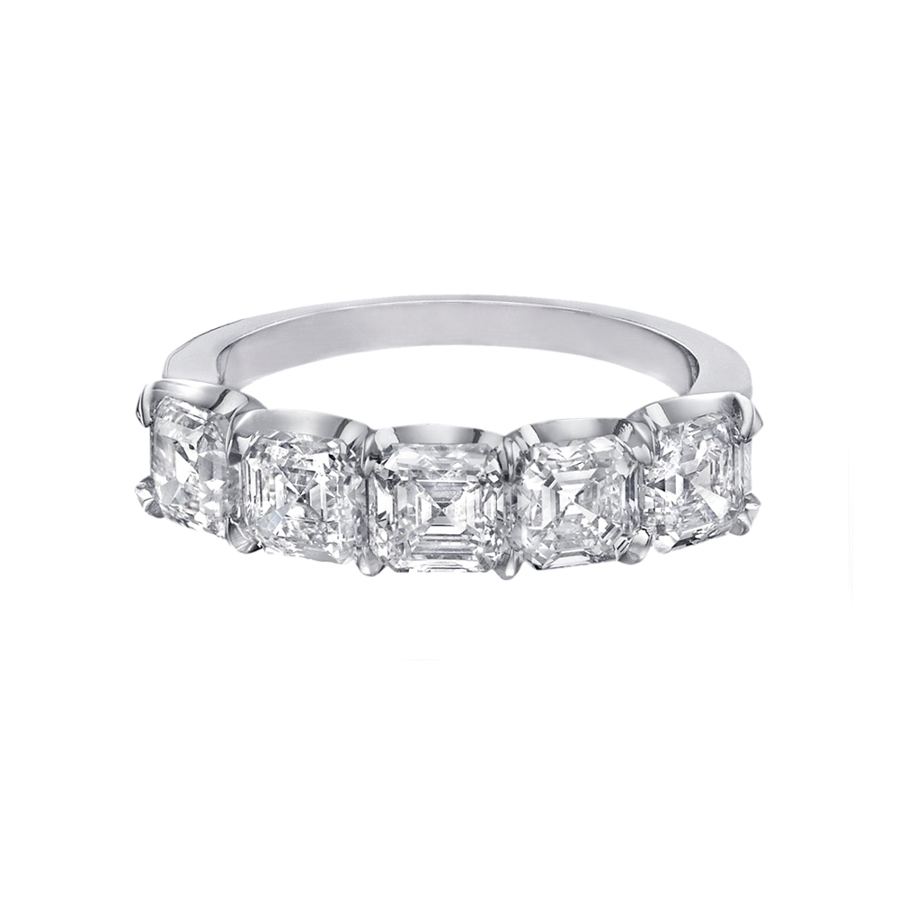 Five Stone Asscher Cut Diamond Eternity Band Betteridge