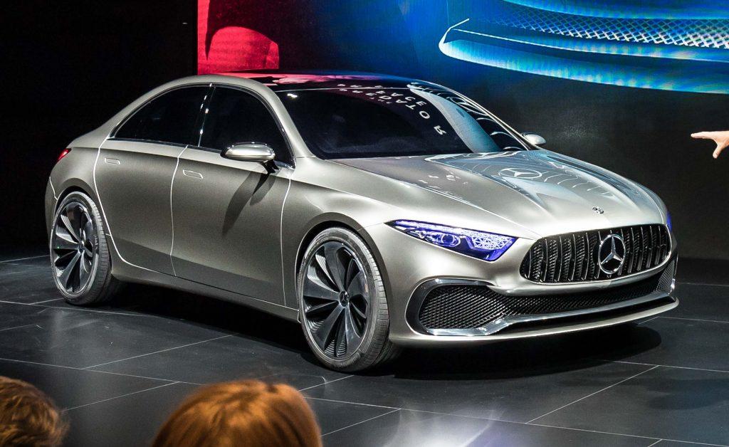 Mercedes Benz Concept A Sedan 2017 Photos Between The