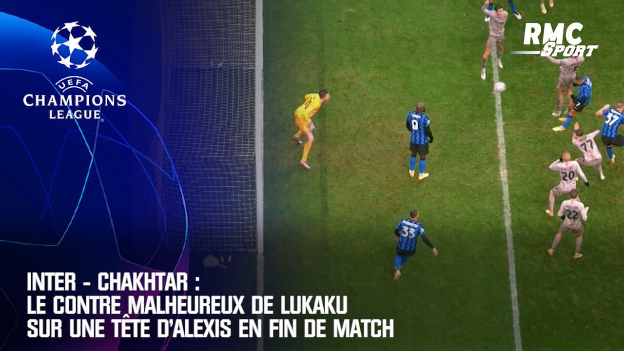 inter chakhtar le contre malheureux de lukaku sur une tete d alexis en fin de match