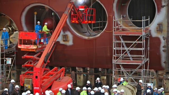 chantiers navals de st nazaire peinent