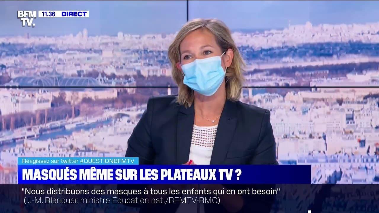 de masque sur les plateaux tv