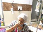 82 वर्ष की आयु , 80 प्रतिशत फेफड़े संक्रमित, ऑक्सीजन लेवल 75, लालू बाई कहती हैं, डॉक्टरों की बात मानो, मास्क पहनो और भगवान सब ठीक कर देगा मुरैना,Morena - Dainik Bhaskar
