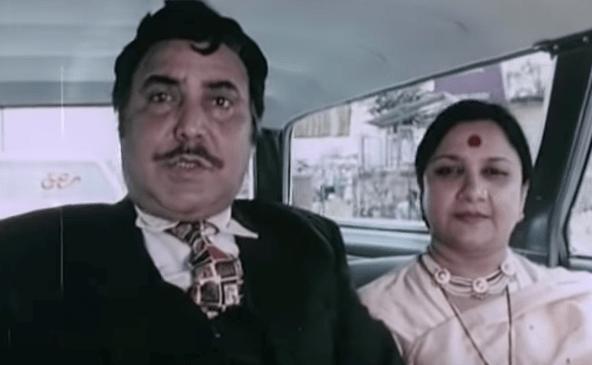 Sudha Shivpuri with Om Shivpuri.