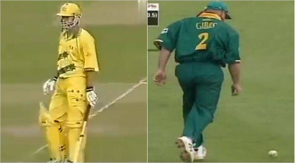 Gibbs dropped the catch of Steve Waugh of Australia.