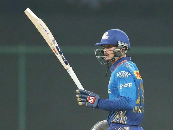 क्विंटन डिकॉक ने IPL में 15वीं फिफ्टी लगाई। उन्होंने 50 बॉल पर 70 रन की नाबाद पारी खेली।