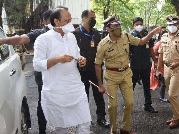 Ajit Pawar had arrived in Pune to inspect the police headquarters.