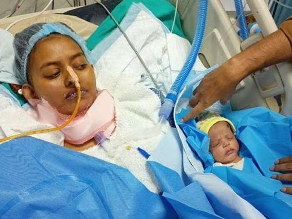 डॉक्टर शारदा सुमन बीते 14 अप्रैल को कोरोना संक्रमित हुई थीं। एक मई को उन्होंने एक बच्ची को जन्म दिया था, जो स्वस्थ है। - Dainik Bhaskar
