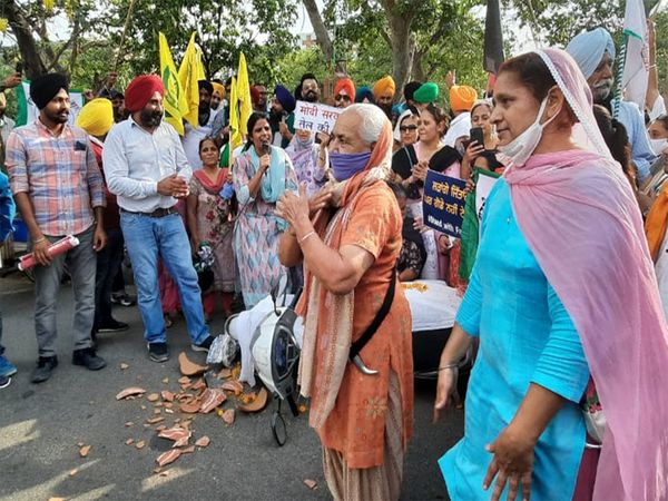 women took part in the protest
