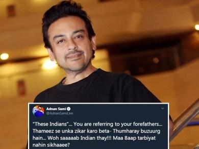 पाकिस्तानी ने लिखा- 5 हजार साल तक भारतीय गुलाम रहे, अदनान सामी ने उसे चुप करा दिया!