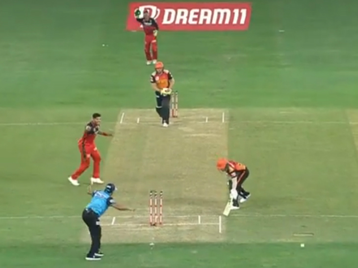 Hyderabad captain David Warner remained unlucky and was run-out at the non-striker end off Umesh Yadav.