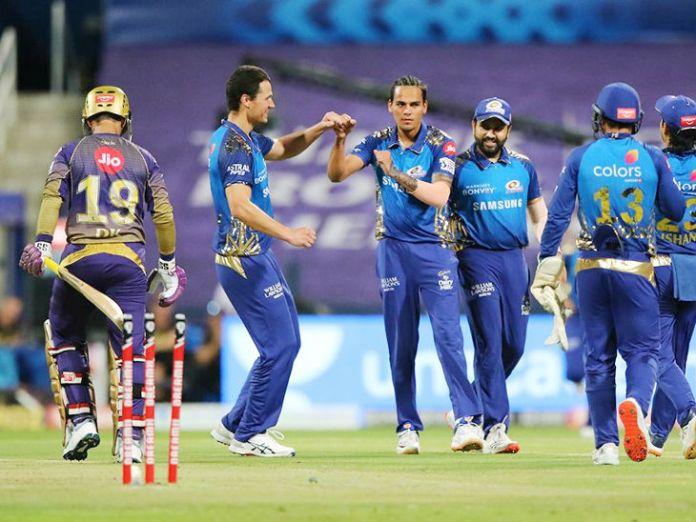 Rahul Chahar of Mumbai dismissed 2 KKR batsmen on 2 balls.  These include the wickets of Shubman Gill and Dinesh Karthik.
