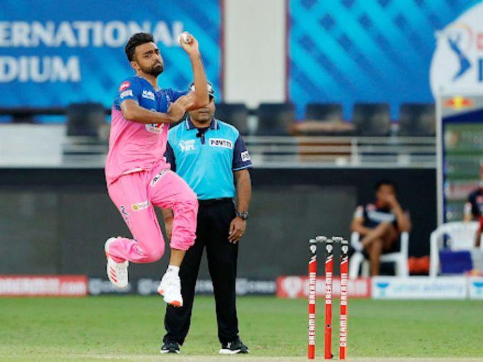 राजस्थान के जयदेव उनादकट के एक ओवर में डिविलियर्स और गुरकीरत सिंह ने 25 रन बनाए।