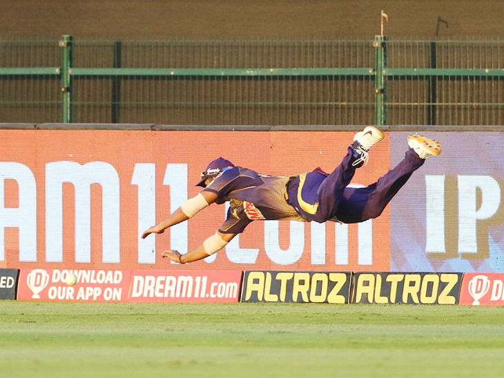 Rahul Tripathi of KKR could not do much in batting, but he left no stone unturned during fielding.