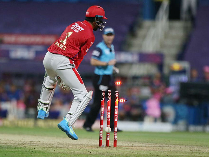 Sanjeev Samson was runout by wicketkeeper Lokesh Rahul at the throw of Jagdish Suchit.  Samson was dismissed for 48 off 25 balls.