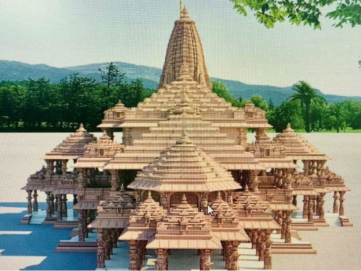 Model of proposed Ram temple.