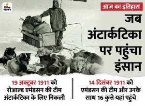 Aaj Ka Itihas Today History India World December 14 Raj Kapoor Birth Anniversary 1910 Roald Amundsen South Pole |  When the first human step on Antarctica, along with 16 dogs also reached there