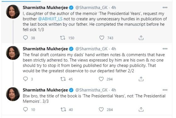 Shortly after Abhijeet, Sharmishtha Mukherjee also spoke.