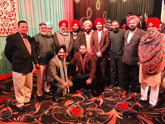 Former hockey Olympian Pragat Singh and other hockey players arrived at the wedding of Indian hockey team captain Manpreet Singh.