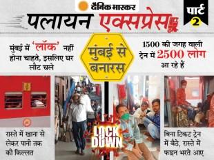 मुंबई से लौटे मजदूरों की आपबीती: ट्रेन में टॉयलेट के पास खाना खा रहे, गेट पर लटककर घंटों की यात्रा करने को मजबूर