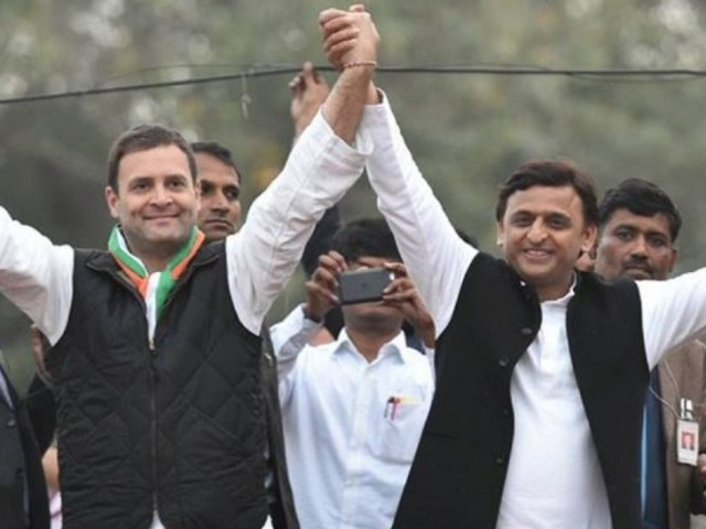 Akhilesh Yadav and Rahul Gandhi formed an alliance during the 2017 assembly elections.