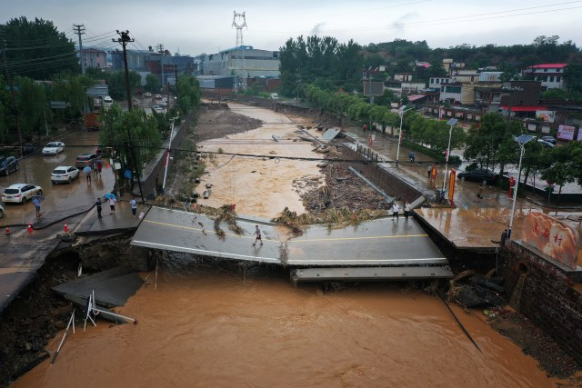 Henan is also the second largest food supplier province in China.  Food supply has also been interrupted due to floods.