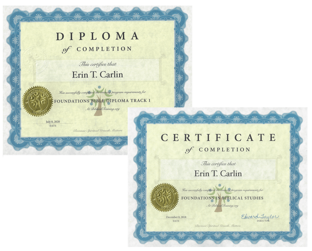 Free Online Bible Classes Certificates