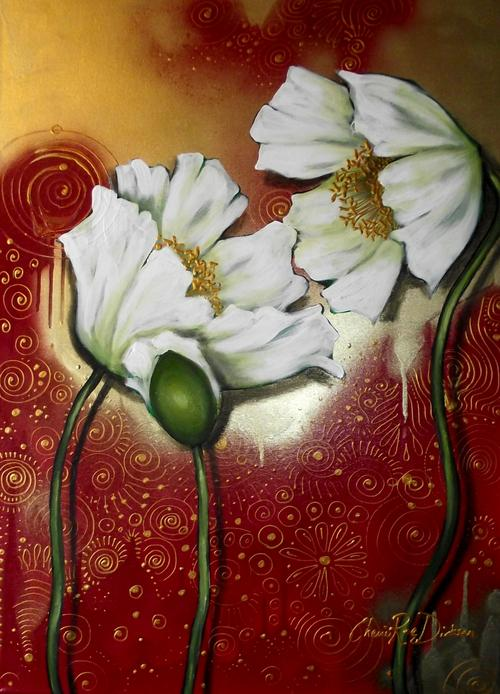 WHITE POPPIES by Cherie Roe Dirksen