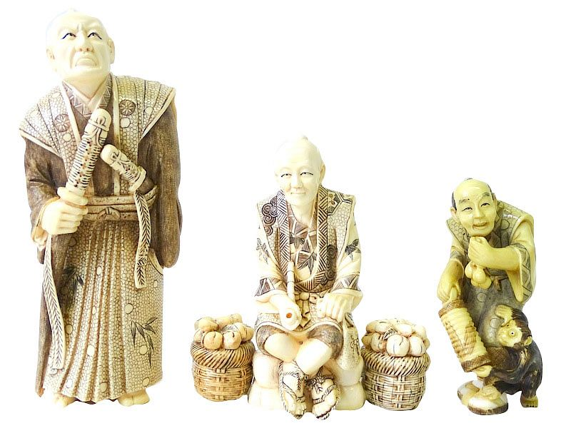 (3) Japanese Cared Figures