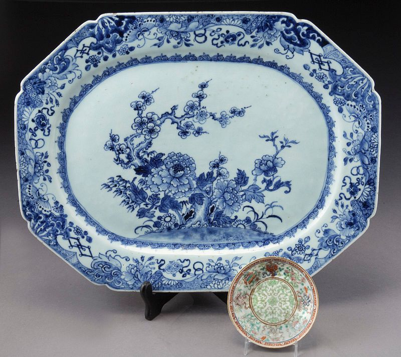 (2) Chinese Qing porcelain plates,