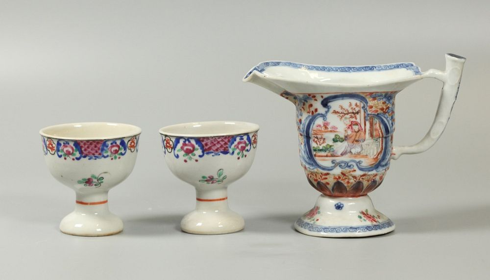 3 Chinese export porcelain wares, possibly 18th/19th c.