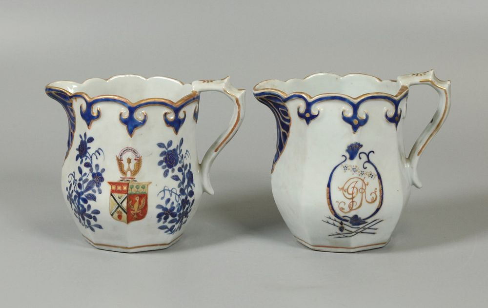 2 Chinese export milk jugs, possibly 18th/19th c.