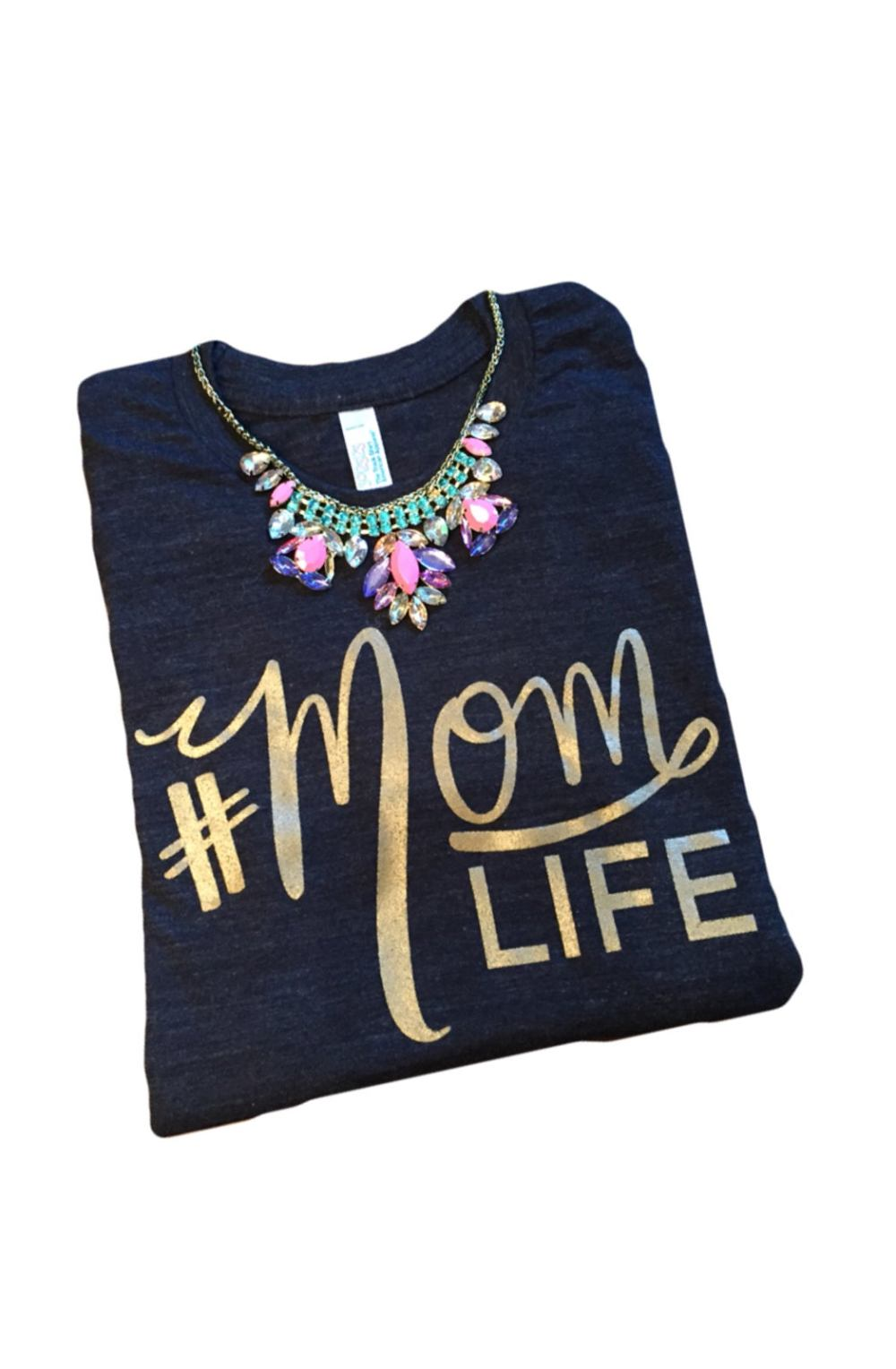 Image of The Original #MOMLIFE Tri-Black Tee Pre Order