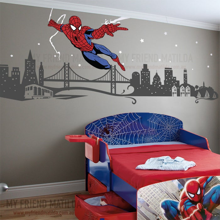 Spiderman Boys Wall Decal Themed Room Spider Man