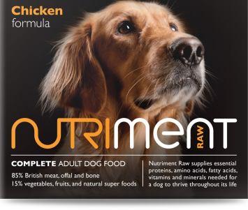 Nutriment chicken raw dog food