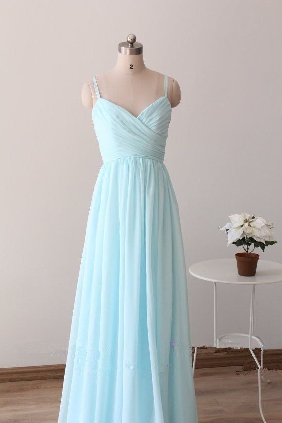 Bridesmaid Light Blue Dresses