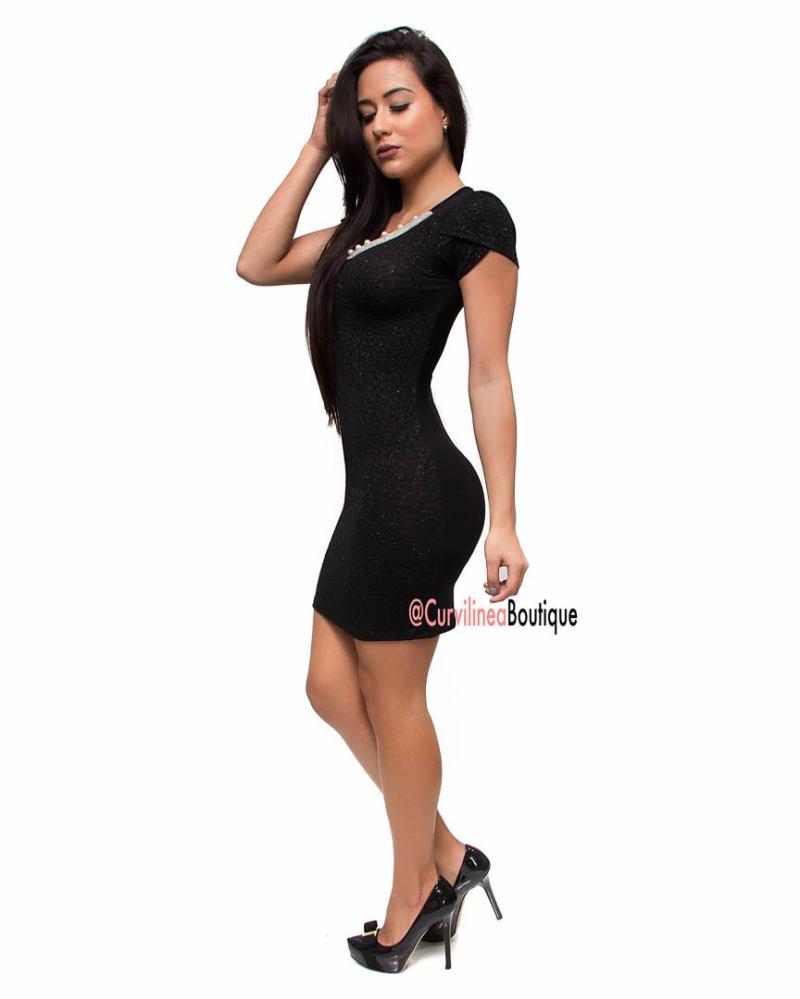 BLACK PEARL DRESS Curvilinea Boutique